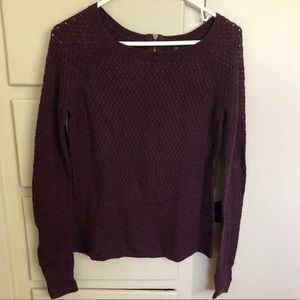 Warp Knit Plum Sweater